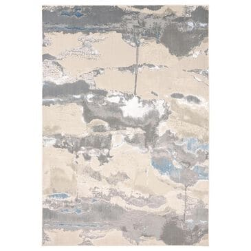 Feizy Rugs Azure 3525F 8' x 11' Blue and Gray Area Rug, , large