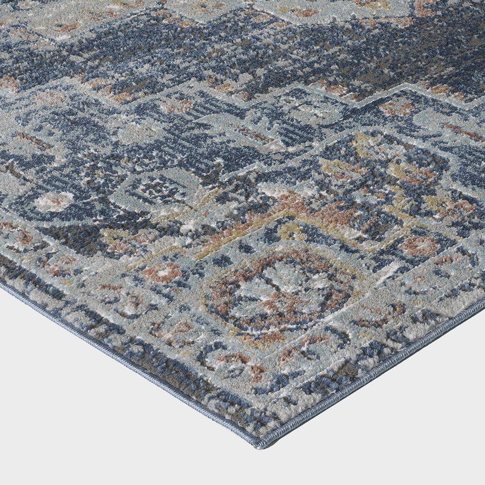 "Central Oriental Orient Dorcie 3824.218 7'10"" x 9'10"" Blue and Dark Grey Area Rug, , large"