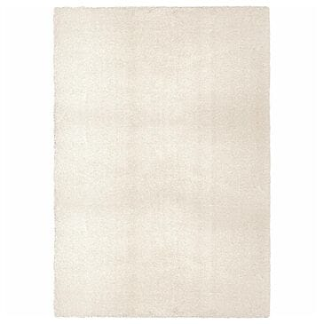 """Orian Cotton Tail Solid 8302 6'7"""" x 9'6"""" White Area Rug, , large"""