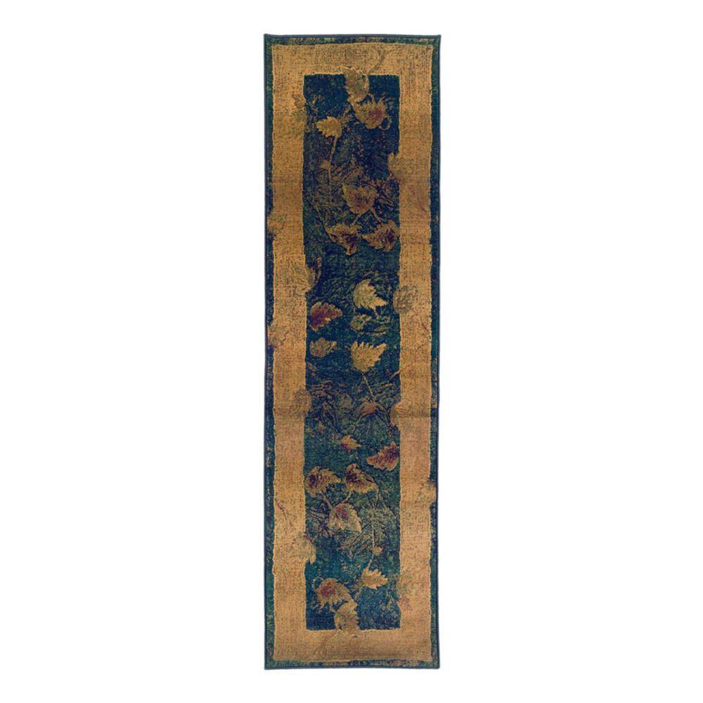 "Oriental Weavers Kharma 349B4 2'3"" x 7'6"" Blue Runner, , large"
