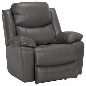 Moore Furniture Caesar Oversized Power Rocker Recliner in Antigua Dark Gray, , large