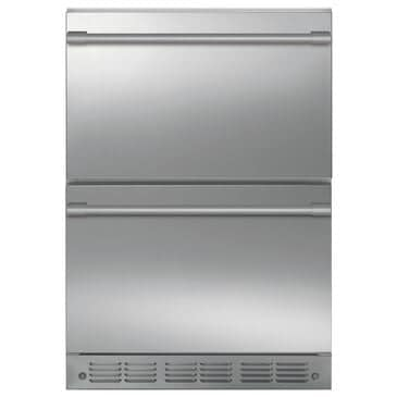"""Monogram 24"""" Built-In Counter Depth Double-Drawer Refrigerator in Stainless Steel, , large"""