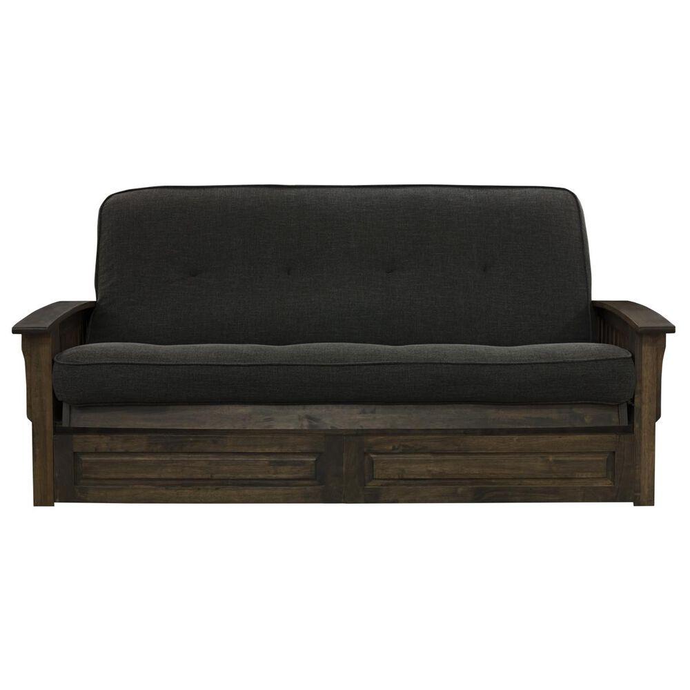 Kodiak Furniture Washington Futon with Drawers in Rustic Walnut, , large