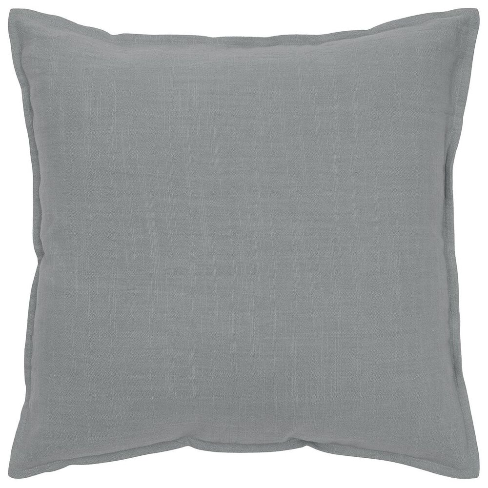 """Rizzy Home 20"""" x 20"""" Pillow Cover in Solid Gray, , large"""