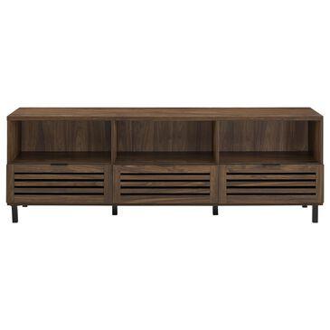"Walker Edison 70"" Modern TV Stand in Dark Walnut , , large"