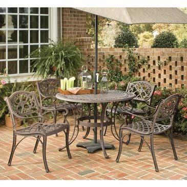 Home Styles Sanibel 5-Piece Dining Set without Cushions in Brown, , large