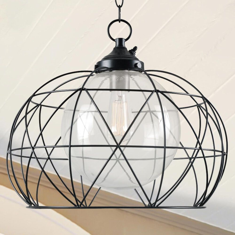 Kenroy Cavea Outdoor Pendant in Blackened Oil Rubbed Bronze, , large