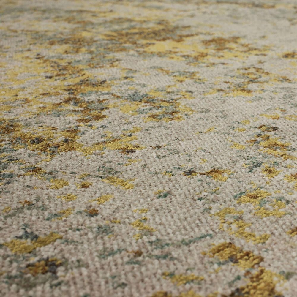 "Karastan Montreal Brockway 91955-90082 9'6"" x 12'11"" Grey, Aquamarine and Gold Area Rug, , large"