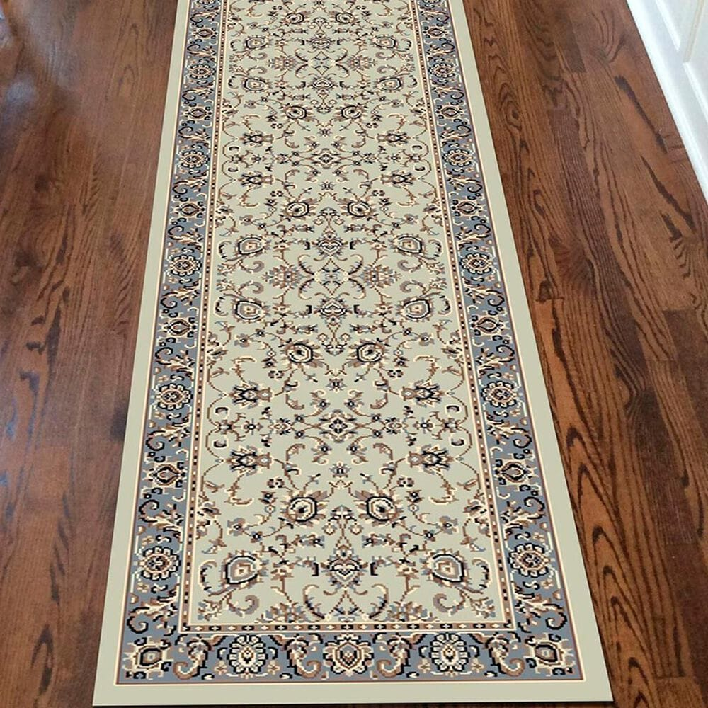 "Radici USA Alba 1426  2'2"" x  7'7"" Green Runner, , large"