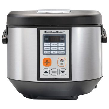 Hamilton Beach 4.5-Quart Digital Multi-Cooker Oval Slow Cooker in Silver, , large