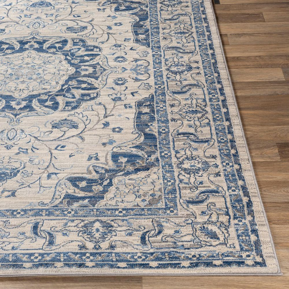 Surya Monaco MOC-2318 2' x 3' Navy, Silver Gray and Cream Scatter Rug, , large
