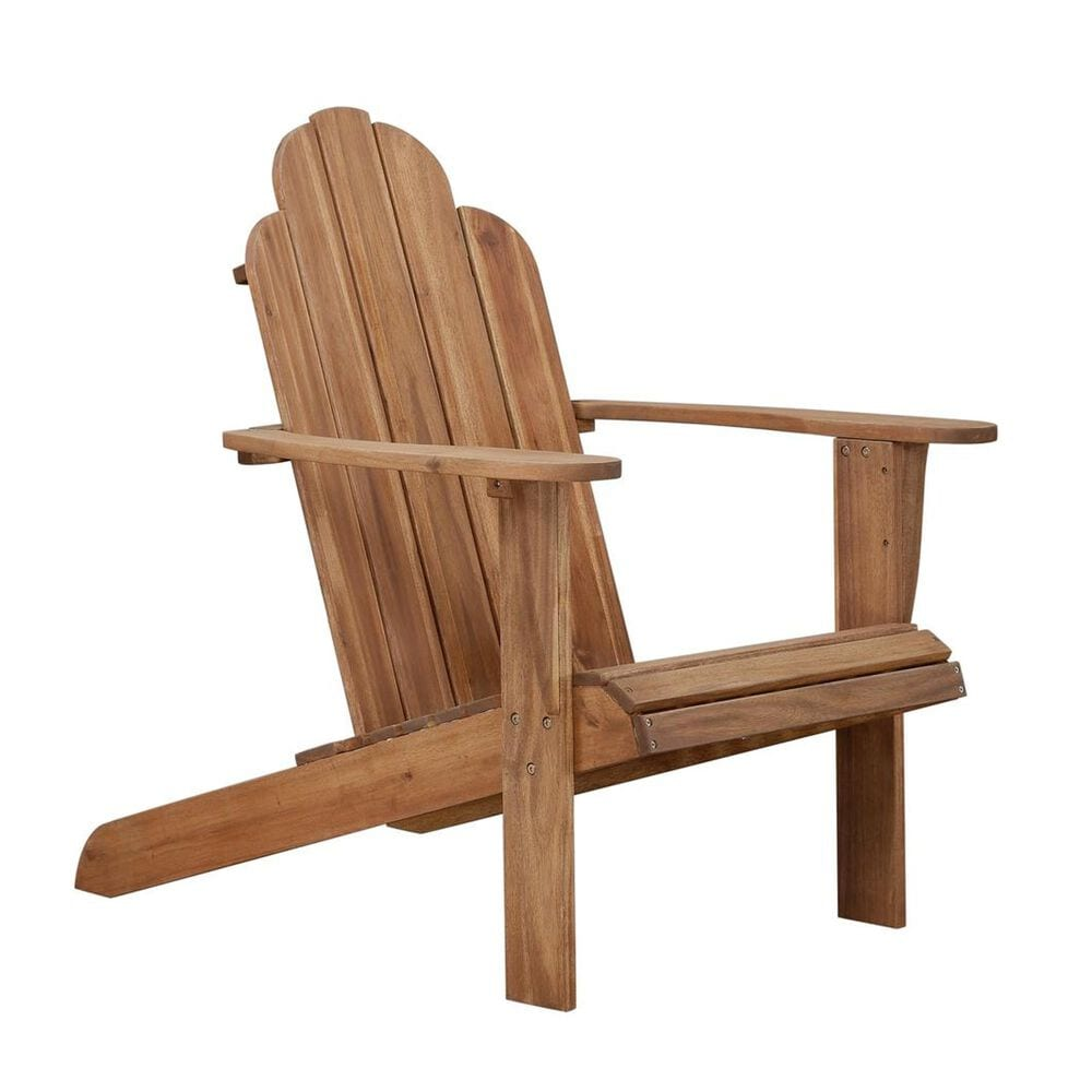 Linden Boulevard Adirondack Outdoor Chair in Teak, , large