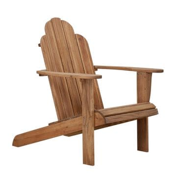 Linden Boulevard Adirondack Outdoor Chair in Teak, , large