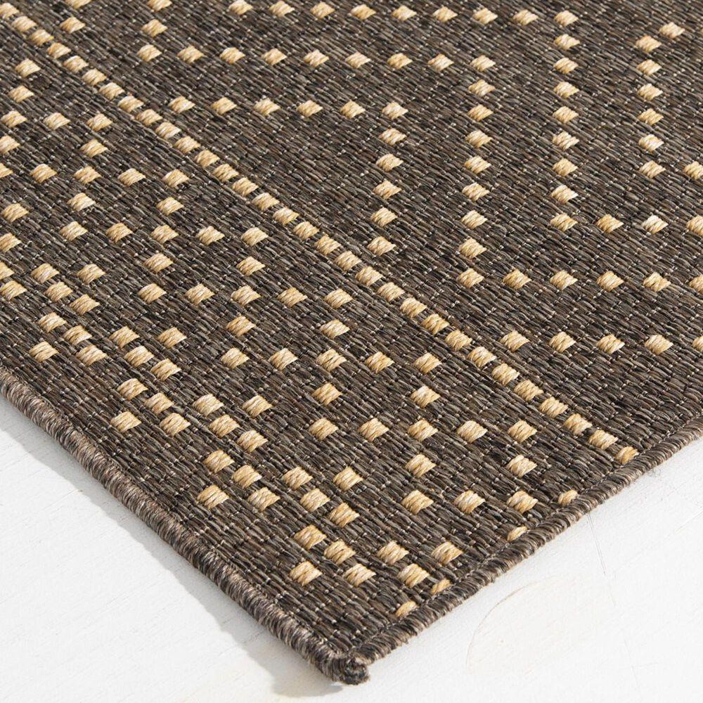 "Trisha Yearwood Rug Collection Gather Sidra Border TYWD 5'3"" x 7'7"" Pebble and Natural Outdoor Rug, , large"
