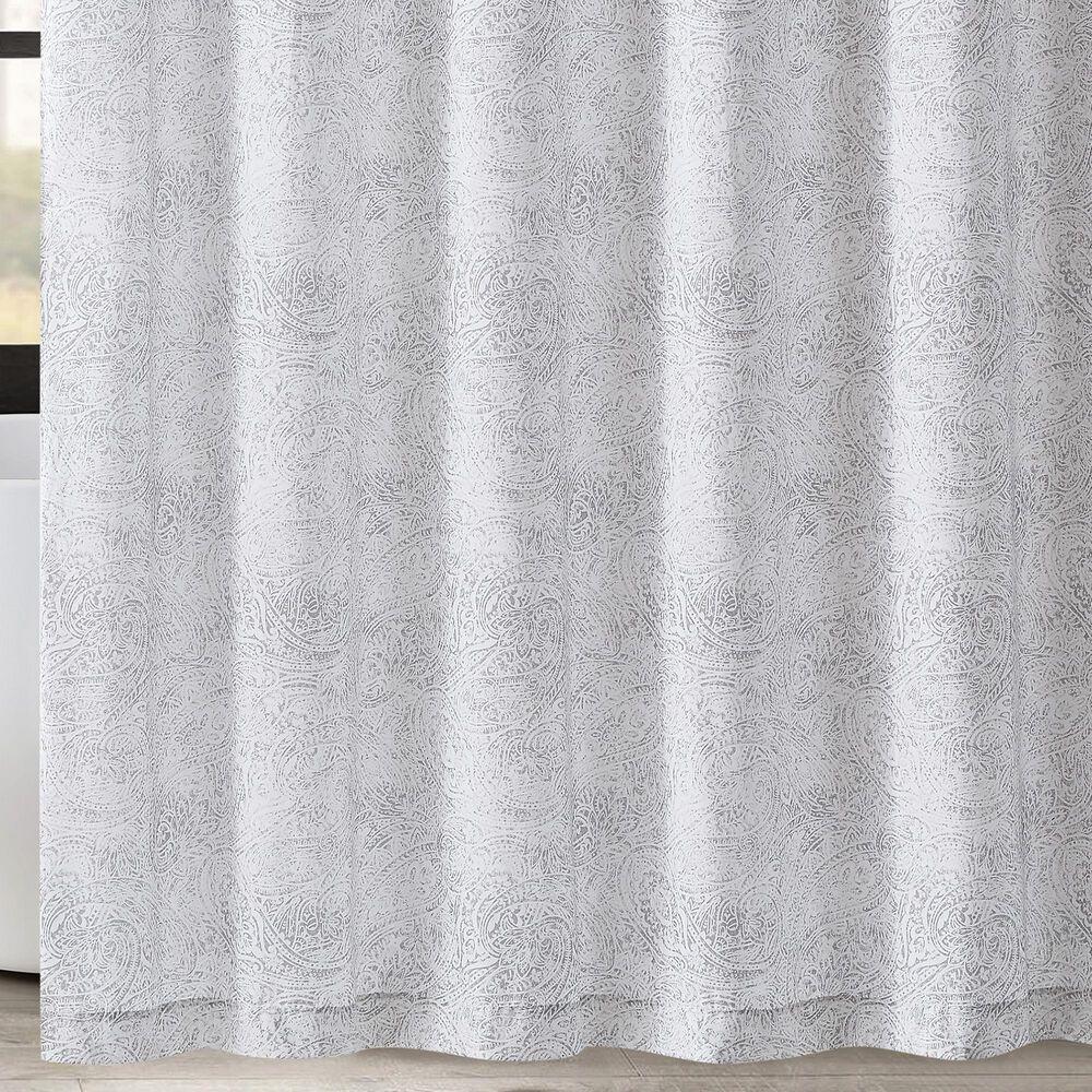 Pem America London Fog Sasha Shower Curtain in White, , large