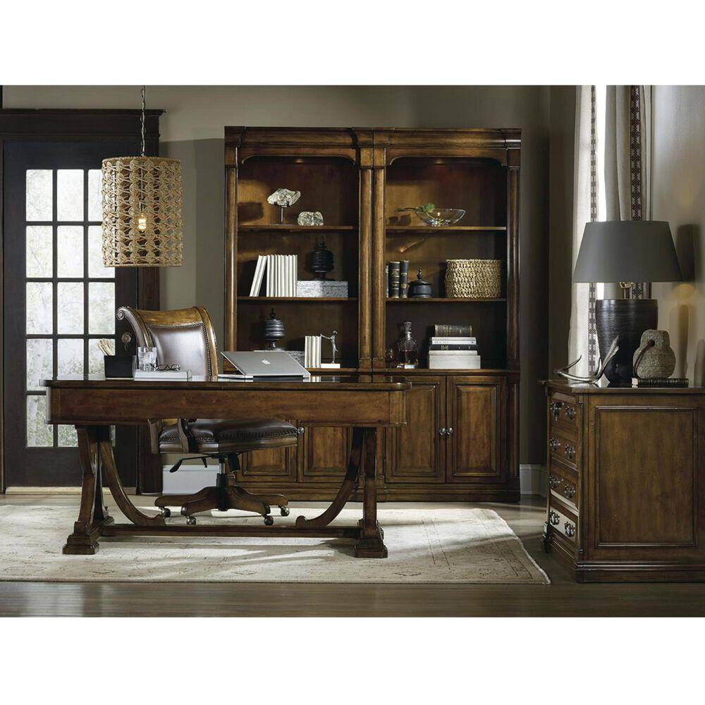 Hooker Furniture Tynecastle Writing Desk in Warm Chestnut, , large