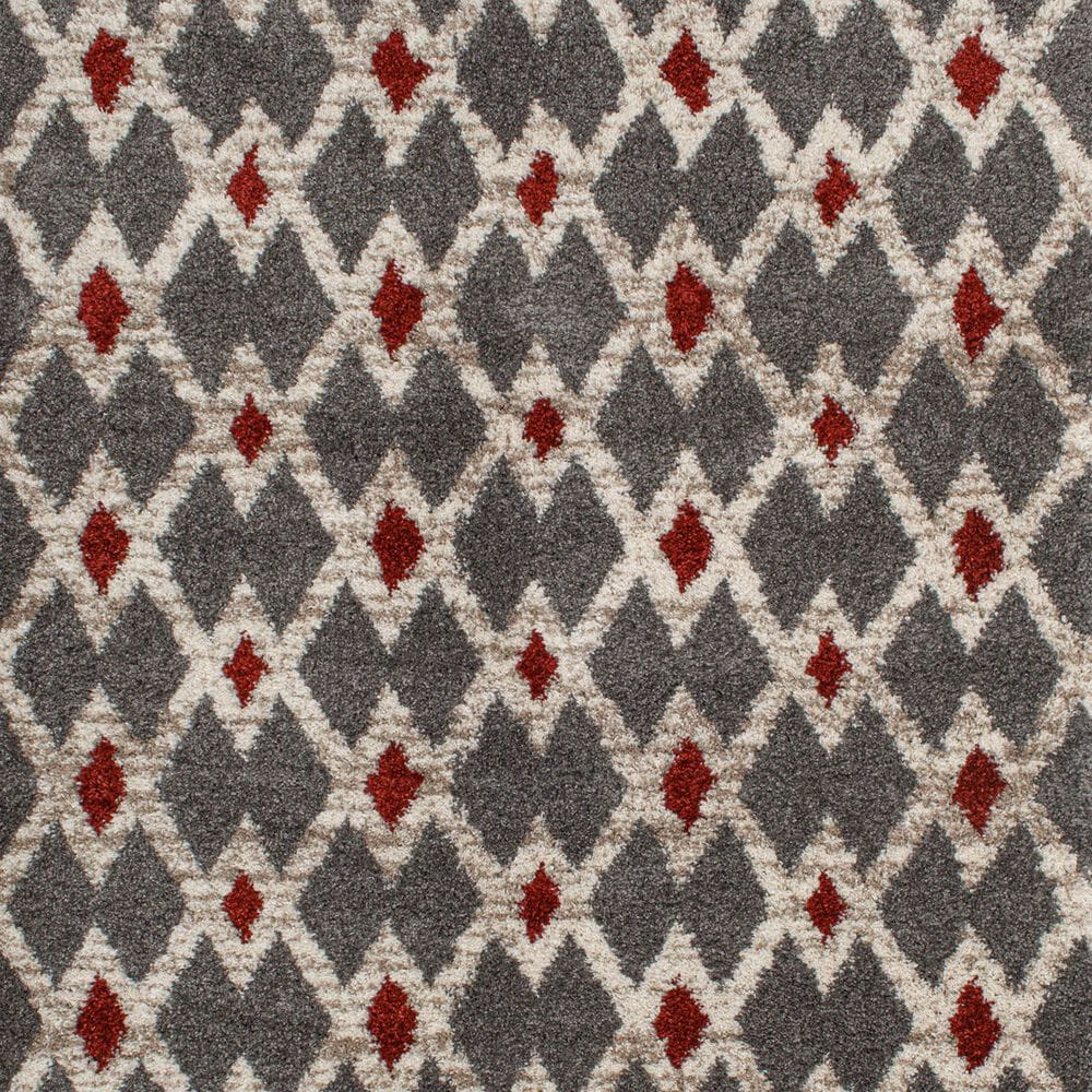 Central Oriental Tulsa Kiernan 9864SLR 8' x 10' Armor Grey and Rust Area Rug, , large