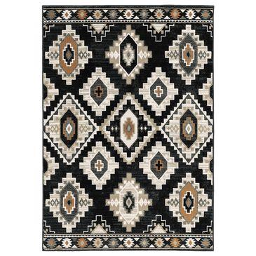 "Oriental Weavers Georgia Southwest 605F0 6'7"" x 9'2"" Charcoal and Ivory Area Rug, , large"