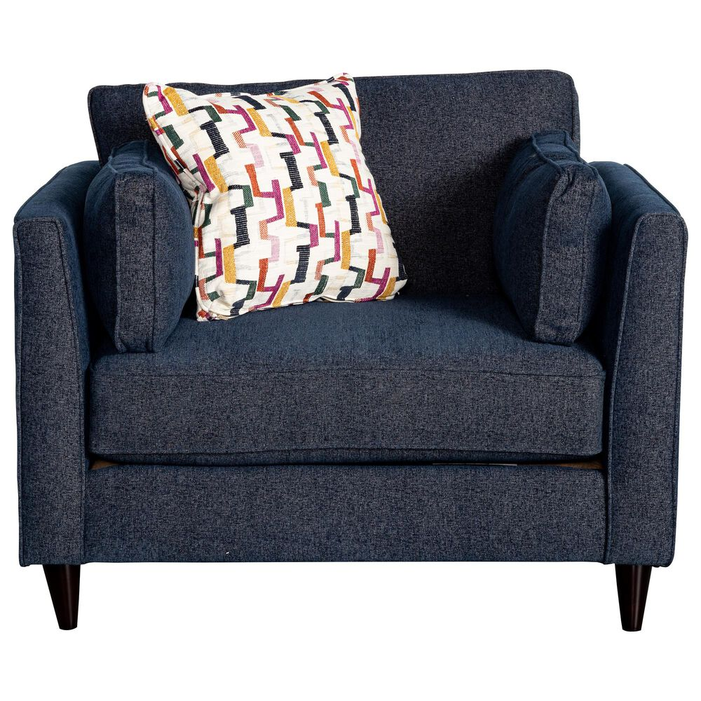 Xenia Contemporary Chair and a Half in Theron Indigo, , large