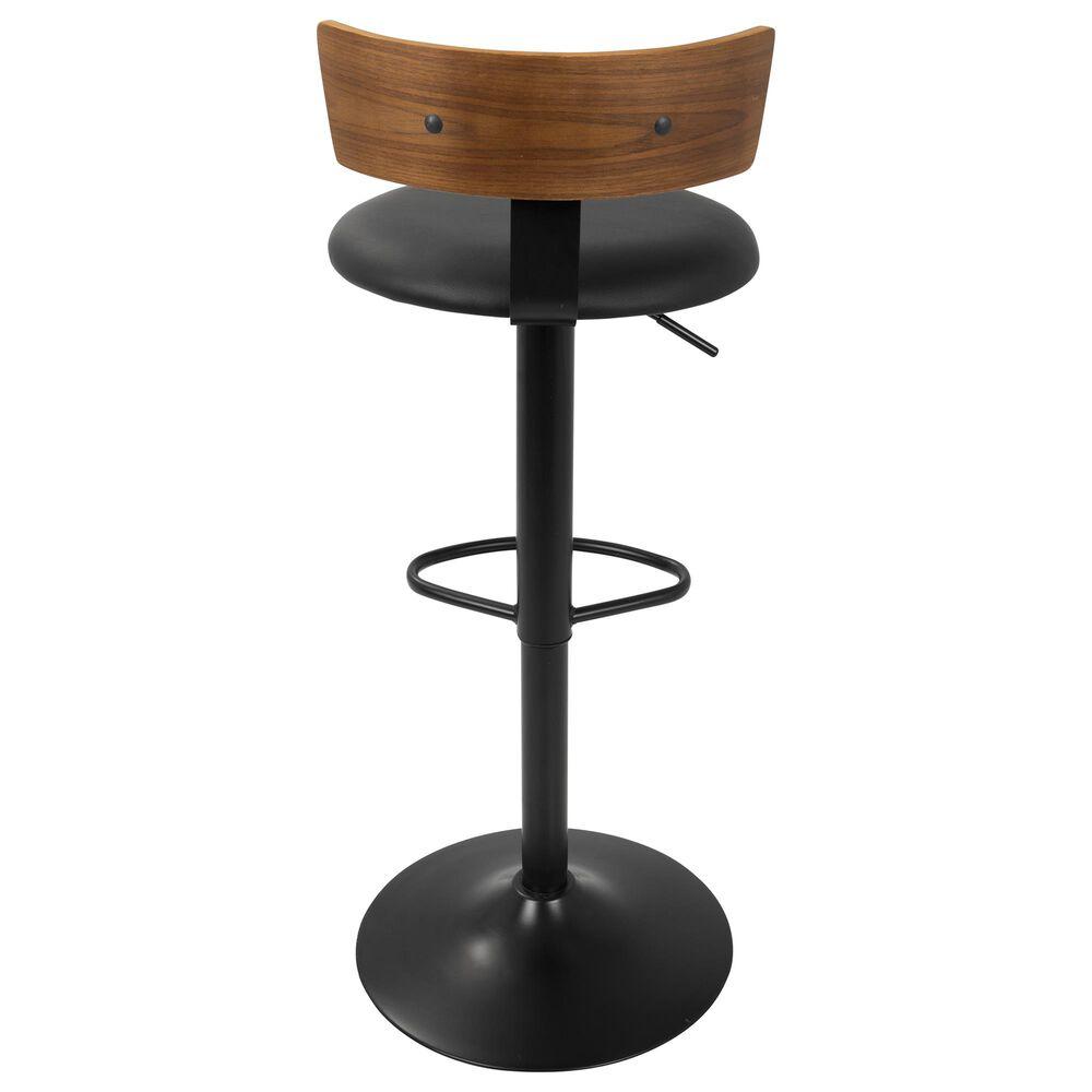 Lumisource Weller Barstool in Black/Walnut/Black, , large