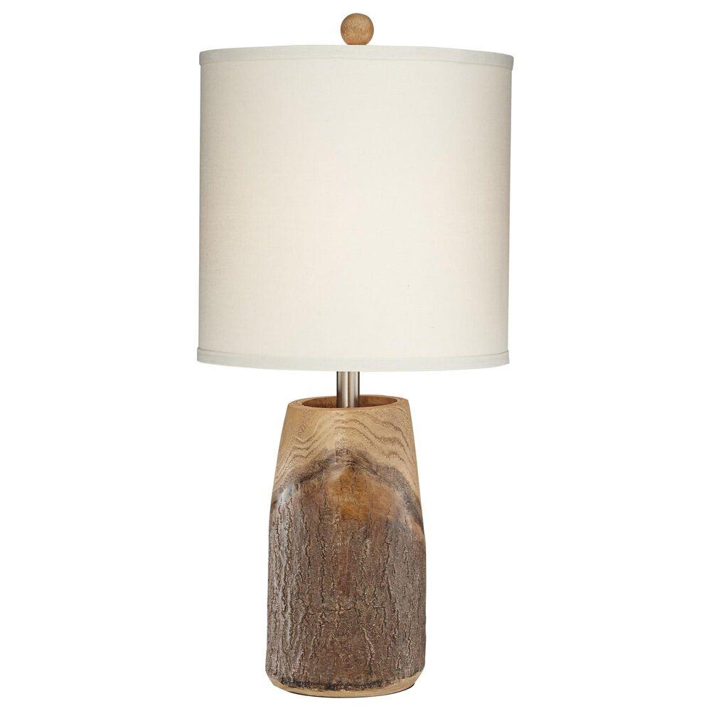 Pacific Coast Lighting Scarlet Oak Table Lamp in Brown Wood Tone, , large