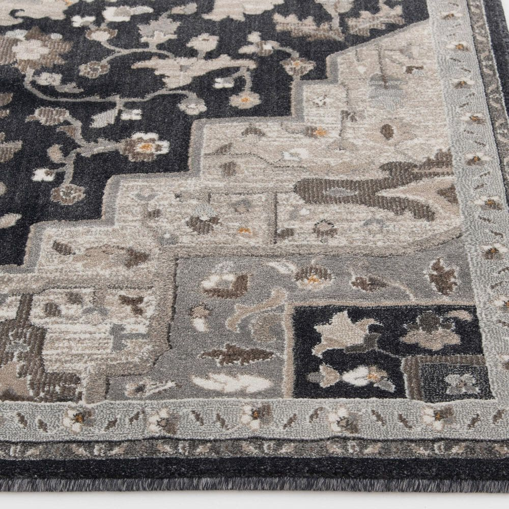 Central Oriental Adore Tansey 9266DBC 8' x 10' Deep Blue and Cement Area Rug, , large