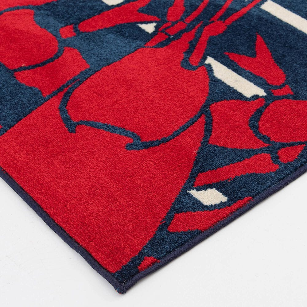 "Central Oriental Terrace Tropic Lively Lobsters 2338PN.085 7'10"" x 9'10"" Sapphire and Snow Area Rug, , large"