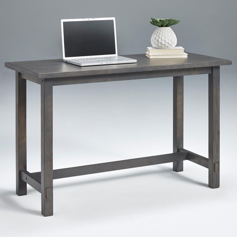 Tiddal Home Mesa Desk in Distressed Gray, , large