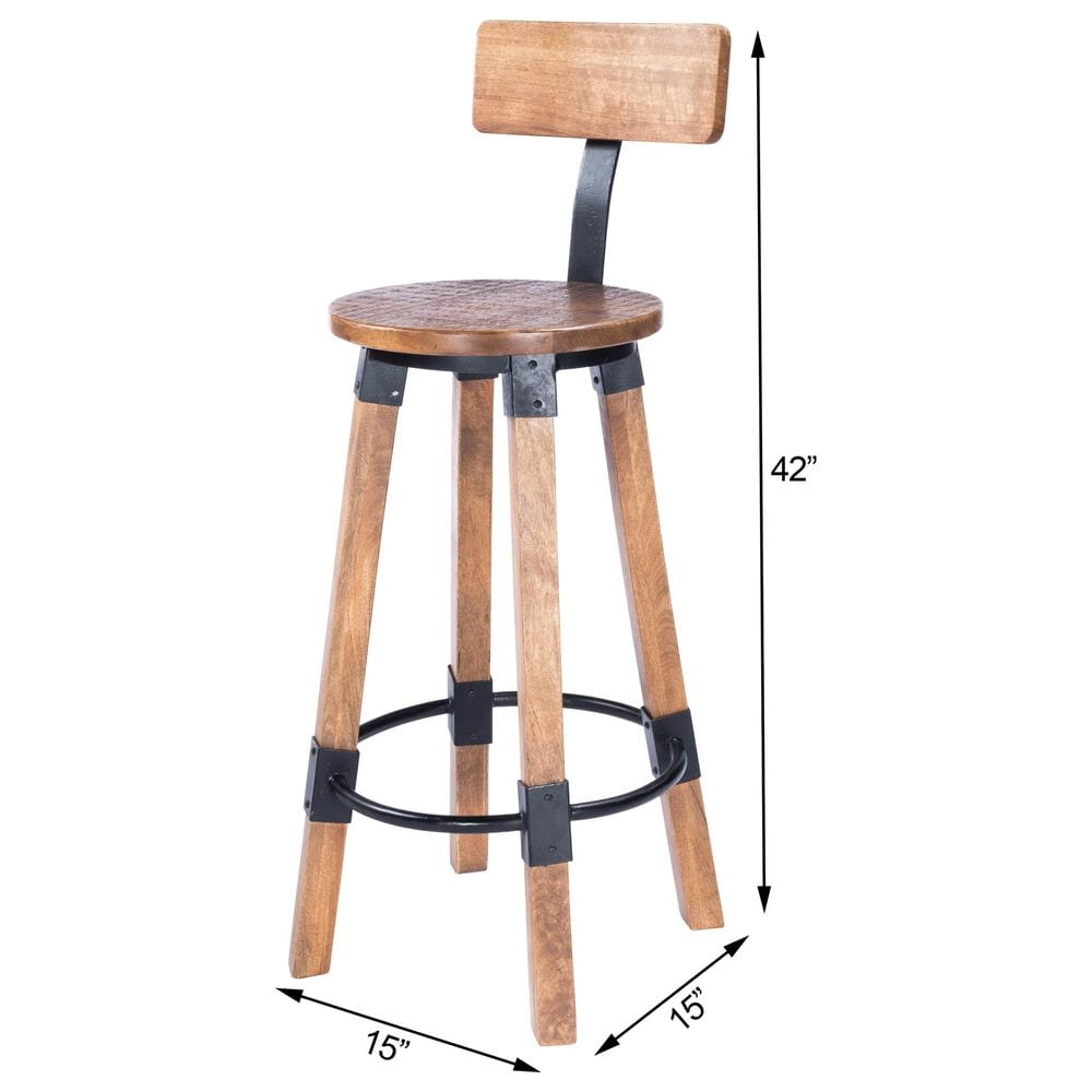Butler Masterson Barstool in Natural Wood, , large