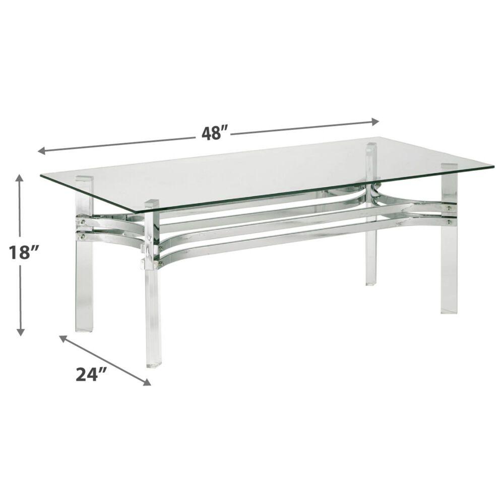 Signature Design by Ashley Braddoni Rectangular Coffee Table in Chrome Finish, , large