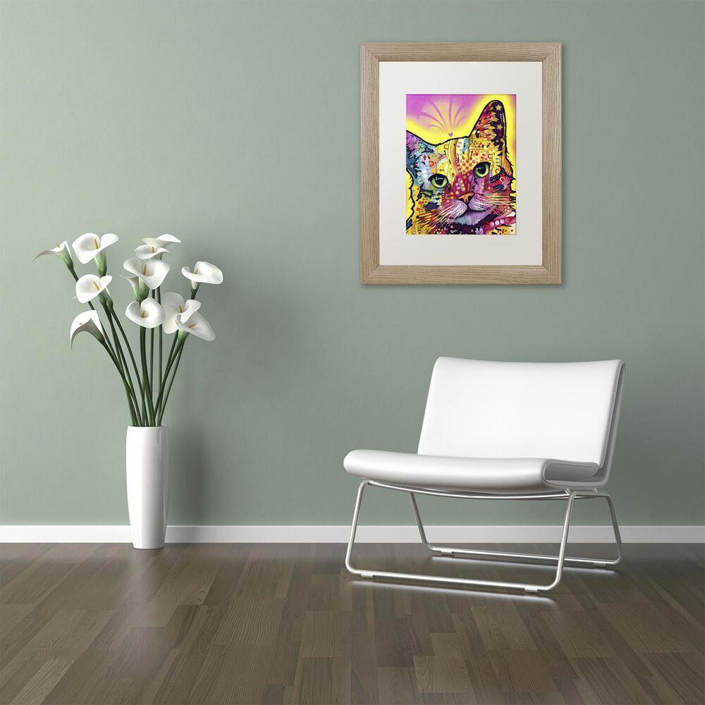 "Timberlake 14"" x 11"" Tilt Cat Art in White Matting and Birch Frame, , large"