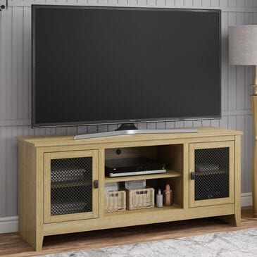 "DHP Foxcroft 65"" TV Stand in Golden Oak/Dover Valley Oak, , large"