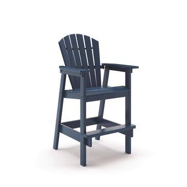 Oceanside Shellback Adirondack Bar Chair in Slate, , large