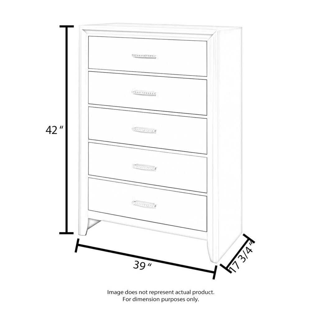 Foundations Worldwide Camden 4 Drawer Chest in White, , large