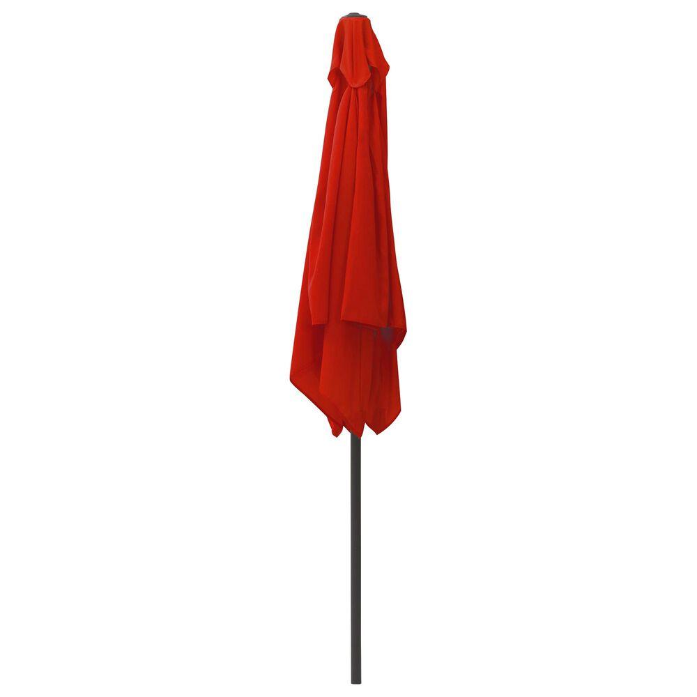 CorLiving 9' Square Tilting Patio Umbrella in Crimson Red, , large