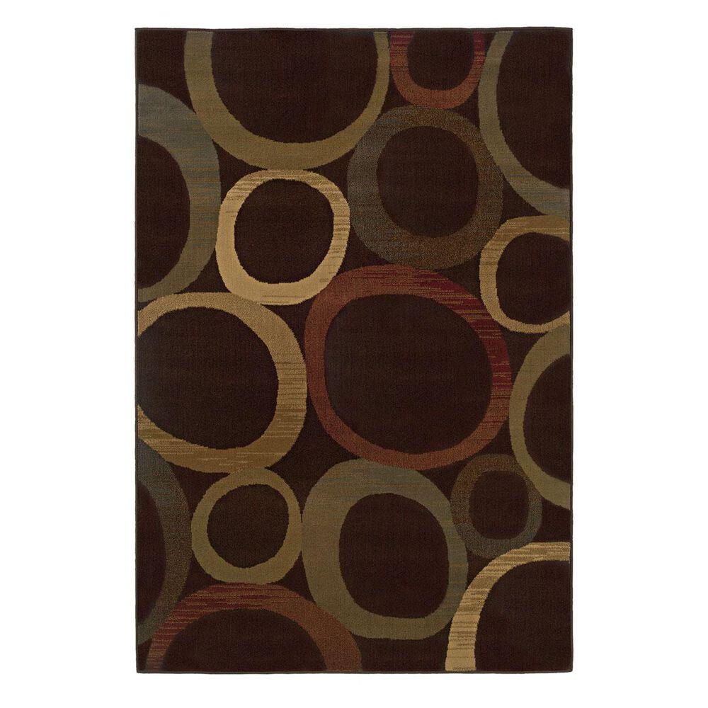 """Oriental Weavers Tybee 2361D 1""""11"""" x 7""""6"""" Brown Runner, , large"""