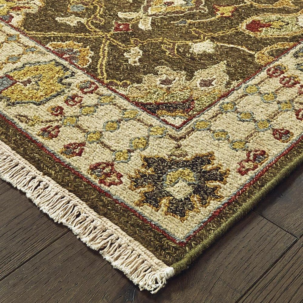 """Oriental Weavers Angora 12304 2'6"""" x 10' Brown and Ivory Runner, , large"""