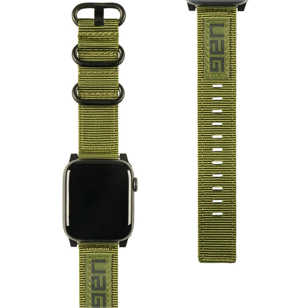 UAG Nato Watch Strap for 42mm or 44mm Apple Watch in Olive Drab, , large