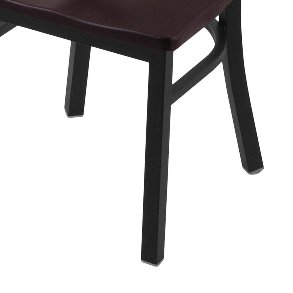 """Holland Bar Stool 620 Catalina 18"""" Chair with Black Wrinkle and Dark Cherry Maple Seat, , large"""
