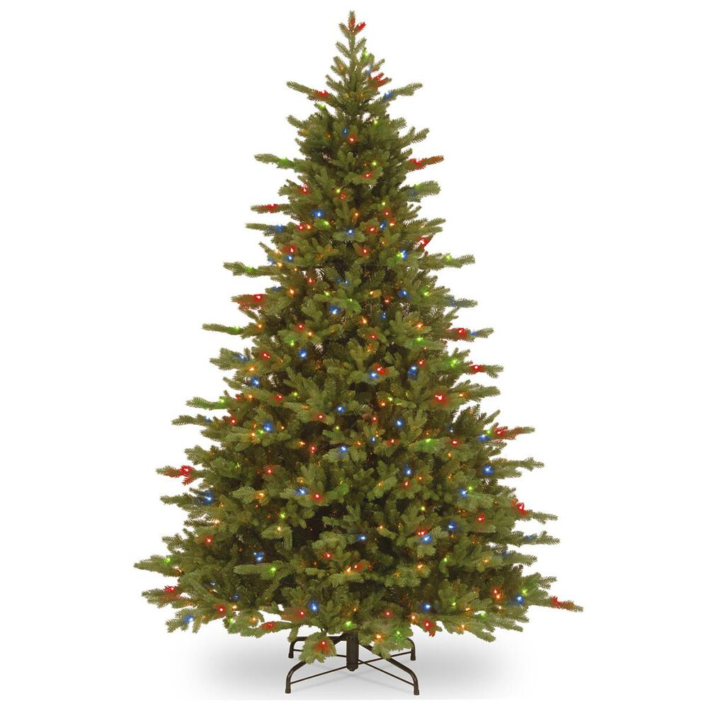 National Tree 7.5' Feel Real Vienna Fir Tree with 750 Dual Color LED Lights, , large