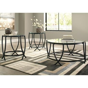 Signature Design by Ashley Tarrin Occasional Table Set in Black - Set of 3, , large