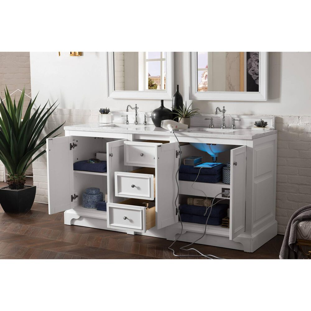"James Martin De Soto 72"" Double Vanity Base in Bright White, , large"