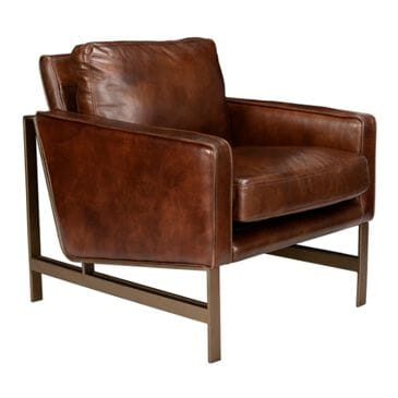 Classic Concepts Chazzie Leather Club Chair in Dusty Brown Leather, , large