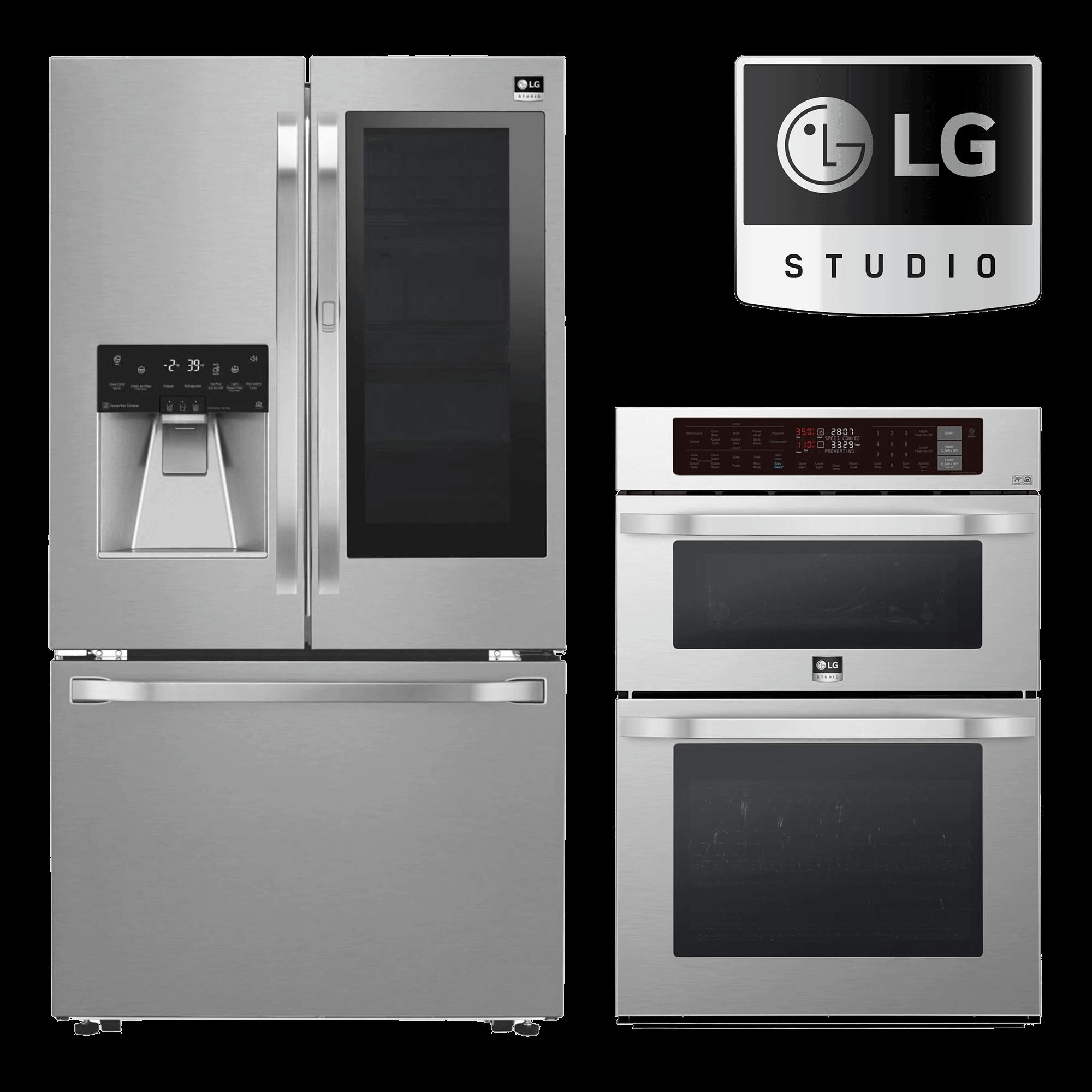 LG Studio Fridge, Range and LG Studio Logo