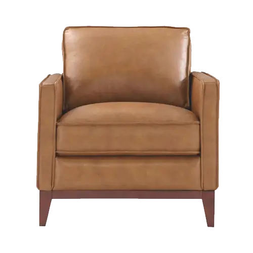 Italiano Furniture Newport Leather Chair in Camel