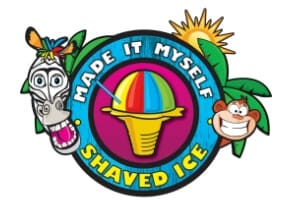 Made It Myself Shaved Ice   Zebra and Monkey popping out of trees