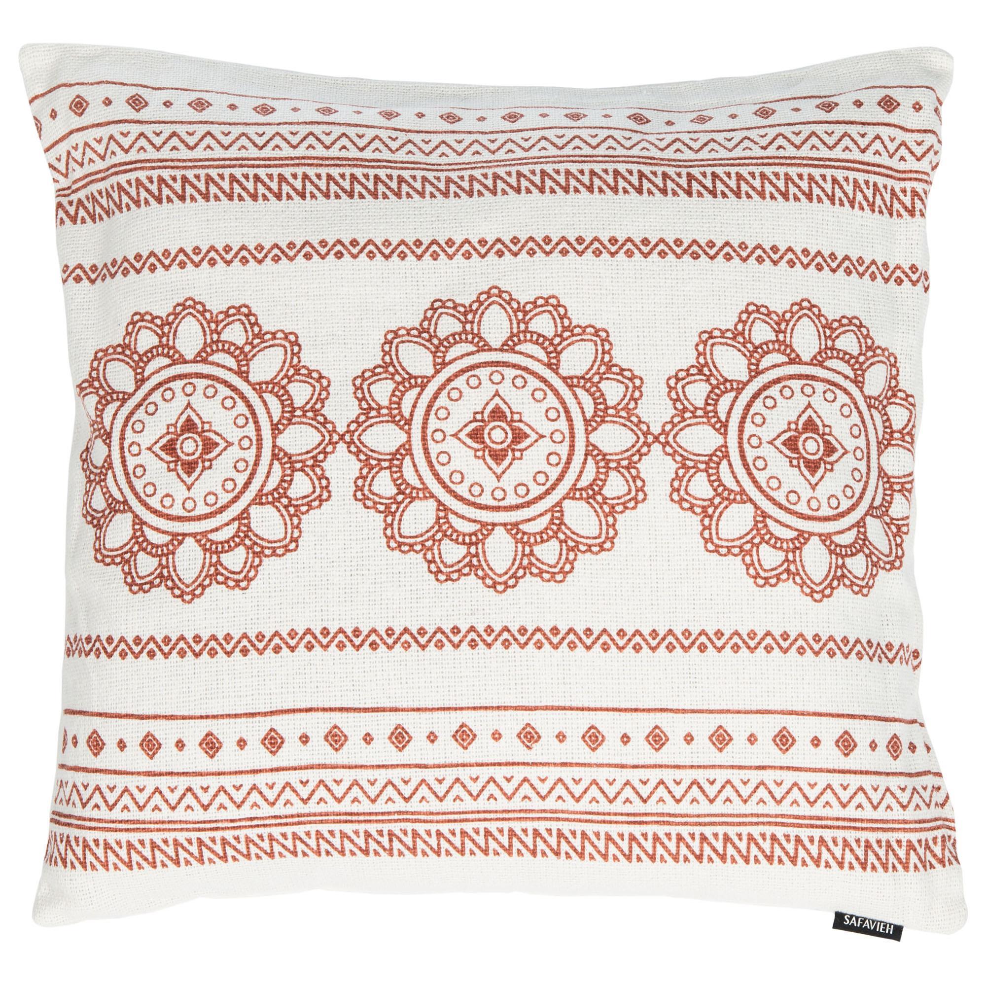 Safavieh Zarra 20 Pillow In Off White And Red Nebraska Furniture Mart